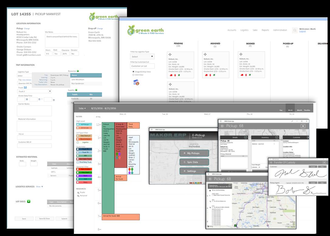 data security ITAD ERP software
